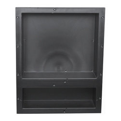 Tileredi - TileRedi RN1620D-BI 16x20 Double Niche - TileRedi RN1620D-BI Individually Boxed 16 inch L x 20 inch W,  Standard Double Niche. Material ABS Black
