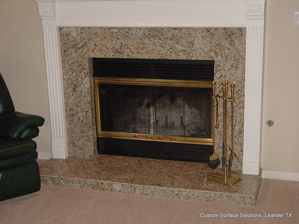 Traditional Family Room by Custom Surface Solutions