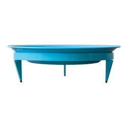 Steel Life - Basin Mod Dish, Sky (Blue) - Pretty things deserve a pedestal. And if the pedestal is pretty too, well, all the better. Use this colorful dish as a planter or a fruit bowl, plop it in the center of your dining table or entryway console and you've got a centerpiece with both presence and good looks.