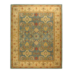 Safavieh - Safavieh Anatolia Traditional Hand Tufted Wool Rug X-8-D445NA - Anatolia Collection brings old world sophistication and quality in new tufted rugs. This collection captures the authentic look and feel of the decorative rugs made in the late 19th century in this region. Hand spun wool and an ancient pot dying technique together with a densely woven thick pile, gives Anatolia rugs their authentic finish.