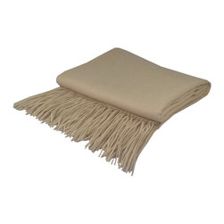 "Pur by Pur Cashmere - Signature Blend Throw Eco, No Dyes No Chemical, 50""x65"" With 6"" Fringe - Signature cashmere blend throw 10% cashmere / 80% wool / 10% microfine Dry clean only. Inner mongolia."