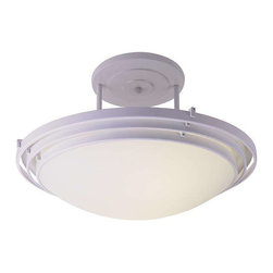 Trans Globe Lighting - Trans Globe Lighting 2481 WH Semi Flushmount In White - Part Number: 2481 WH
