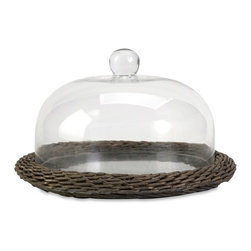 IMAX CORPORATION - Olivia Glass Cloche w/ Willow Base - The Olivia glass cloche adds interest to any area! Willow is finished in a warm grey stain, making this neutral piece easily customizable with filler for a personalized look!. Find home furnishings, decor, and accessories from Posh Urban Furnishings. Beautiful, stylish furniture and decor that will brighten your home instantly. Shop modern, traditional, vintage, and world designs.