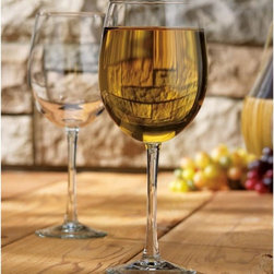 Home Essentials - Vino White Wine 19 oz Glasses-Set of Two - Serving white wine in those over sized 19 oz glass goblets will make your wine more special to the eye and palate. The Set of Two Vino Wine Glasses elevates your table with chic simplicity. Upper scale glass stemware at the everyday price, makes for an ideal presentation at any gathering or party.  He will rejoice with this bar ware as a gift on Father's Day, Birthdays and etc.  * Set of Two * 19 oz * Vino Collection