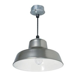 Aspects - Outdoor Lighting. Farm and Home 1-light 14 in. Silver Hanging Reflector light - Shop for Lighting & Fans at The Home Depot. Durable yard light with silver finish and reflective white interior. Galvanized steel piper included. For ceiling installation only. 8' heavy duty hanging cord. Suitable for barns, garages, sheds, workshops, livestock buildings and more!