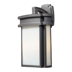 ELK - ELK 42342/2 Outdoor Sconce - Simplicity Of Craft And Form Gives The Sedona Collection A Very Attractive Look Through Its Minimalist Approach.  Inspired By The Architecture And Casual Lifestyle Of The Desert Southwest, This Collection Features Clean Lines With Recessed Edges, Caramel