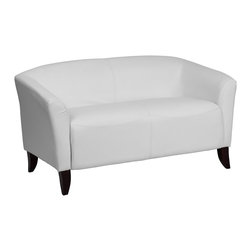 Flash Furniture - Flash Furniture Reception Furniture Reception Grouping - Loveseat X-GG-HW-2-111 - Make an impression with your clients and customers with this attractive leather reception love seat. This love seat is perfect for the office and waiting room seating. Not only will this chair fit in a professional environment, but will add a chic look to your living room space. The contemporary design of this chair will fit in a multitude of environments with its streamlined stitching and curved elevated hardwood feet. [111-2-WH-GG]