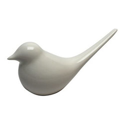 Vita V Home Contemporary White Bird Resin Statue - About Vita V HomeLocated in Elk Grove Village, Illinois, Vita V Home is dedicated to bringing the world's best home decor and accessories to you. Spanning contemporary, transitional, and traditional styles in everything from hand-blown glass to carved wood to cast resin, this incredible collection is ready to add to any space.