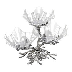 Arthur Court - Grape 3-Tier Acrylic Bowl Stand - Silvery branches twist and turn to create a stunning bowl stand that's a perfect centerpiece for a dinner or party buffet. Embellished with ornate vines and grapes, it's a piece of art on its own. Or, pair with the coordinating bowls, plates and accessories for the perfect festive serving collection.