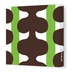 """Avalisa - Pattern - 115 Stretched Wall Art, 12"""" x 12"""", Green - Add a pop of color to any room with this playful work of art. Each piece is printed on fabric and applied to stretchers for a straight-from-the-gallery look. Use one to dress up a naked wall, or hang them in a group for maximum impact."""