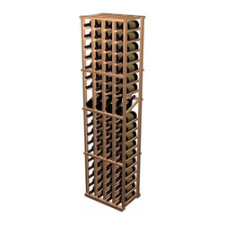 Wine Cellar Innovations - 4 Column Individual Wine Rack with Display Designer Series in Premium Redwood, U - The 4 Column Individual Bottle with Display Row wine rack combines all the features of the standard 4 Column Individual Bottle wine rack with the added benefit of display rows. The 15 degree angle of the wine display row keeps the cork moist while allowing you to easily view the label. Each display rack is 4 columns wide x 19 rows high with 4 bottles of display. Product requires assembly. Please note: molding packages are available separately.