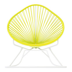 Acapulco Rocker, White Frame With Yellow Weave