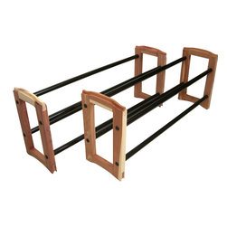 Proman Products - Proman Products Expandable Stacking Cedar Shoe Rack - Expandable stacking cedar shoe rack, 2-tier