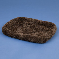 Precision Pet Products - Precision SnooZZy Crate Bed - 2661-75561 - Shop for Beds Covers and Fill from Hayneedle.com! Keep one SnooZZy Crate Bed in your dog's crate and another at her favorite place by the fire. This dog bed is made of luxurious designer polyester fabric that is overstuffed to offer your dog ultra lounging comfort. Best of all this dog crate bed is machine washable! Machine wash in cold on the gentle cycle and lie flat to dry. The SnooZZy Crate Bed is rectangular and specifically designed to fit dog crates carriers dog houses or anywhere. It's available in Chocolate Cozy or Natural Cozy colors and comes in six size options. Choose the size that best fits your dog or cat. Teacup: 18L x 14W x 3H inches X Small: 25L x 20W x 3H inches Small: 31L x 21W x 3H inches Medium: 37L x 25W x 3H inches Large: 45L x 32W x 3H inches X Large: 51L x 33W x 3H inches.About Precision Pet ProductsPrecision Pet Products is an established and respected manufacturer supplying a wide variety of pet products to all facets of the pet industry since 1985. Located in Orange County California the Precision Pet Products team assures that their products are constructed from the strongest materials available and designed to withstand the wear and tear of the most active of pets and pet handlers.