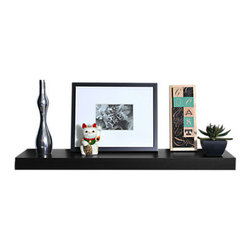 Smart Furniture - Smart Furniture So Simple Floating Wall Shelf, Black, 10 X 24 - The Smart Furniture So Simple Floating Wall Shelf is a great and simple to add addition to any space.  Mount the shelf above your sink for convenient storage, put it in the bedroom to hold books, toss it in the living room to display photos--the uses are endless!