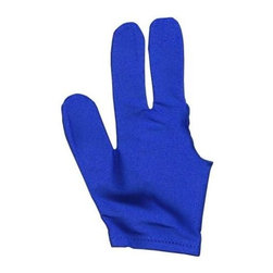 Sterling Gaming - Sterling 3 Finger Full Coverage Billiard Glov - Accurate shots are easy with this Sterling 3-finger billiards glove. It reduces friction between your pool cue, giving you smooth, even strikes and precise control from anywhere. The glove covers your thumb, index and middle fingers and has a vibrant blue finish. Slide smoothly and accurately over the pool player's bridge hand. Less friction between the pool cue and the billiard glove. Reduction in this friction makes your stroke more consistent and accurate. Fully covers your thumb, index finger, and mi
