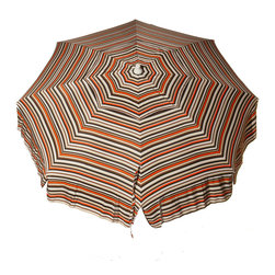 DestinationGear - Italian 6 ft Umbrella Acrylic Stripes - Multi Brown - Taking in the sun on the Amalfi coast is to some a dream come true.  In the case of the DestinationGear Italian Bistro style umbrellas, you'll feel like you are in Italy when you open up this 6 foot diameter shade provider.  Stylish, high-quality and designed for the patio, beach or camping outing.