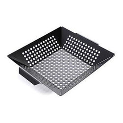 Zen Urban - Deep Dish Nonstick Grilling Wok - -Prepare entire meals at the grill Rolled handles for easy transport from grill to table