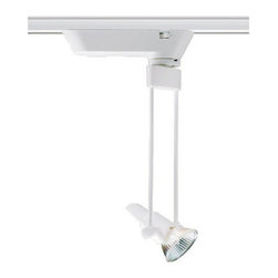 """Juno Lighting - Trac-Master T630 9"""" Trapezia Low Voltage MR16 Track Light - The light, airy appearance is great for display, exhibition and gallery lighting, and the downward reach can make pendant mounting of trac unnecessary.T537 or T538 transformer required (sold separately)"""
