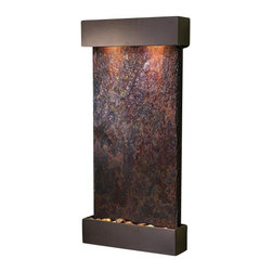 Whispering Creek Wall Fountain, Antique Bronze, Multi Color Slate - The Whispering Creek Wall Fountain is a centerpiece of serenity and beauty of nature that is perfect for your home or office. This fountain brightens up a room with its tranquil, flowing sounds and a feel of being one with nature.