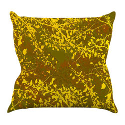 "Kess InHouse - Iris Lehnhardt ""Twigs Silhouette Earthy"" Brown Yellow Throw Pillow (26"" x 26"") - Rest among the art you love. Transform your hang out room into a hip gallery, that's also comfortable. With this pillow you can create an environment that reflects your unique style. It's amazing what a throw pillow can do to complete a room. (Kess InHouse is not responsible for pillow fighting that may occur as the result of creative stimulation)."