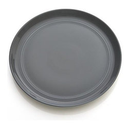 Hue Dark Grey Salad Plate - Our fresh, contemporary porcelain pattern from designer Aaron Probyn tells a mix 'n' match color story, hand-glazed in eight soft, soothing hues. Simple artisanal shapes feature grooved detailing and a glowing, glossy finish, here in graphic dark grey. Due to their handcrafted nature, slight variations will be present. Also available in ivory, white, taupe, blue, green, light grey and blush.