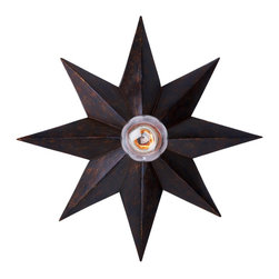 Crystorama - Crystorama Astro Flush Mount Ceiling Fixture in English Bronze - Shown in picture: English Bronze Flush Mount; English Bronze Flush Mount from our new Astro Collection