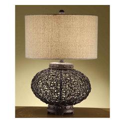 Crestview Collection - Crestview Collection CVNAM666 Wicker Orbe Table Lamp - Crestview Collection CVNAM666 Wicker Orbe Table Lamp
