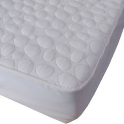 Dream Decor Pebbletex Quilted Organic Cotton Waterproof Mattress Pad - Patented multi-layer waterproofing technology and soft quilting set the Dream Decor Pebbletex Quilted Organic Cotton Waterproof Mattress Pad apart from the rest. Made from hypo-allergenic organic and jersey cotton this mattress pad is bed bug resistant 100% waterproof and quilted for comfort. Deep fitting pockets ensure a great fit on any mattress. Machine wash warm and tumble dry. About Dreamtex Inc.Providing customized fine quality fabrics since 1956 Dremtex consistently strives for excellence in combining old world values with modern business practices. With over 50 years of experience Dremtex has set new standards within the textile industry leading the market in custom fabrics. Committed to satisfying their clients through custom applications consultations and services their team collaborates to provide unique perspectives and quality to every design.