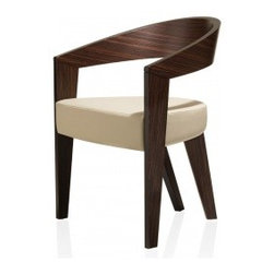 The Neovega Armchair - I'm a sucker for modern curves. This dining chair not only has beautiful curved wood, it also has a nice comfortable cushion.