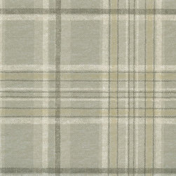 Warner - Htm49407 Tartan Lodge Plaid Wallpaper - Chesapeake pattern HTM49407 Tartan from Outdoors is a grey, gold and brown plaid wallpaper.  This lodge collection of Warner wallpapers and borders are prepasted, easy walls.