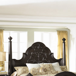 """Magnussen - Vellasca Panel Headboard - Turn classic Italian design on its head with Vellasca, a new-traditional vision in ebonized Cathedral Cherry and antique brass. Features: -Hardwood solids and cherry veneer construction.-Antique Ebony finish.-Vellasca collection.-Upholstered: No.-Distressed: No.Dimensions: -Overall Height - Top to Bottom: 80"""".-Overall Width - Side to Side: 15"""".-Overall Depth - Front to Back: 7.5"""".-Overall Product Weight: 36 lbs."""