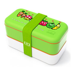 Monbento - MB Original Bento Box Styles, Pixel Food - Monbento's Original Bento Box is now available in five unique graphic designs. Beautifully crafted with features that pack a punch in its compact shape, each box includes 2 containers, lids, a divider all in an airtight container. BPA-free, dishwasher and microwave-safe for worry-free, stylish food storage.