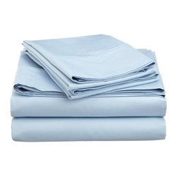600 Thread Count Cotton Rich Cal. King Light Blue Sheet Set - Cotton Rich 600 Thread Count California King Light Blue Sheet Set