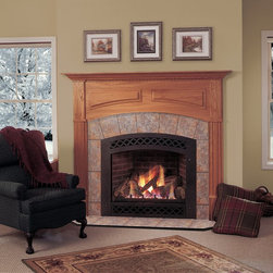 Majestic - Majestic Lexington Direct Vent Gas Fireplace - LX - Shop for Fire Places Wood Stoves and Hardware from Hayneedle.com! The Majestic Lexington Direct Vent Gas Fireplace with exclusive LexFire Burn System gives the durability and performance you want in a cozy living room centerpiece. The state-of-the-art burn system mixes the precise amount of gas and oxygen to generate the brightest yellow flame possible over a realistic log set and glowing ember bed. This piece also boasts a flush face design with spacious viewing area and a blower with variable speed controls for increased efficiency. About MajesticFor over 50 years Majestic has crafted a name synonymous with quality wood and gas fireplaces for the home. With a vast array of products and styles including wood electric modern and traditional Majestic has something for every taste and decor. Majestic products are built to last offering a quality construction and innovative design structure that has made them a premier choice for homes across North America and beyond.