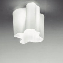 """Artemide - Artemide Logico mini single ceiling light - The Logico mini single ceiling light fromArtemide has been designed by Michele De Lucchi and Gerhard Reichert. This ceiling mounted luminaire is great for diffused incandescent lighting. The Logico is composed of die cast aluminum and stainless steel with the diffuser made from handblown glass with a satined finish. The Logico mini single ceiling light exhibits a cutting edge and detailed design, along with quality craftsmanship, that is sure to brilliantly brighten any modern environment. UL listed.  Product Details:   The Logico mini single ceiling light fromArtemide has been designed by Michele De Lucchi and Gerhard Reichert. This ceiling mounted luminaire is great for diffused incandescent lighting. The Logico is composed of die cast aluminum and stainless steel with the diffuser made from handblown glass with a satined finish. The Logico mini single ceiling light exhibits a cutting edge and detailed design, along with quality craftsmanship, that is sure to brilliantly brighten any modern environment. UL listed.  Details:     Manufacturer:  Artemide   Designer:  Michele De Lucchi and Gerhard Reichert     Made in: Italy   Dimensions:   Height: 9"""" (23 cm) X Width: 11"""" (28 cm)     Light bulb:   1 X 100W incandescent or 1 X 18W fluorescent     Material:  aluminum, steel, handblown glass"""