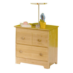 Atlantic Furniture - Atlantic Furniture Windsor 2 Drawer Nightstand in Natural Maple - Atlantic Furniture - Nightstands - C69205 - The Windsor Nightstand has clean lines accentuated by simple decorative touches. The classic design, reminiscent of Mission style furniture, would be an ideal bedside storage / display piece for a range of decors including casual, country or contemporary.