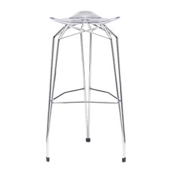 Kubikoff - Diamond Barstool, Clear, Chrome-Plated - Diamond Barstool