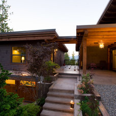 Contemporary Exterior by Purcell Timberframes
