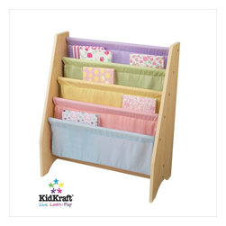 Kidkraft - KidKraft Pastel Sling Bookshelf - Kidkraft - Kids Bookcases - 14225 - Getting children excited about reading is easy when you present books in this Sling Book Shelf. This shelf is the perfect gift for the young readers in your life.