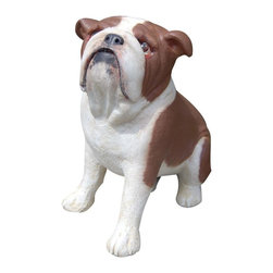 Craft-Tex - Kennel 13 in. Hand Painted Bosco Bulldog - Award winning designs. Exact reproduction of a Master Carvers original. Hand cast in a variety of mediums to insure the exact detailing of the original wood carving. Crafted by North Carolina artists with attention to detail. Made in USA. Made of pecan shell resin. 1-Year warranty