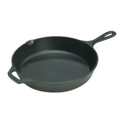 Lodge Logic Skillet with Assist Handle - Between pancakes, cornbread, roasted potatoes etc., this cast iron pan is my most used pan. It is naturally nonstick, can handle extreme heat and is the best material for even heat distribution.