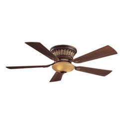 "Minka Aire Fans - Calais Hugger Ceiling Fan by Minka Aire Fans - Elegance, style and performance. Ideal for lower ceilings (it has less than a 12"" drop from ceiling to cap), the Minka Aire Calais Hugger Ceiling Fan warms a room with its classic, almost tropical appeal while cooling it by providing excellent air flow. Includes a handheld remote with 3 forward/reverse fan speeds and advanced light functions.The Minka Group, located in Corona, CA, offers a variety of products, including Minka Aire fans, Minka Lavery lighting, and George Kovacs fans and lighting.The Minka Aire Calais Ceiling Fan is available with the following:Details: Integrated glass shadeHandheld RC213 included"