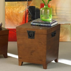 Southern Enterprises Pyramid Trunk End Table - You can store your stuff in this trunk end table.