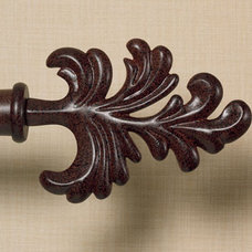 traditional curtain poles by Country Curtains