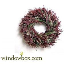 20in. Scented Burgundy Wreath w/ Green Wreath Hanger - Mother's Day Wreaths - Wr