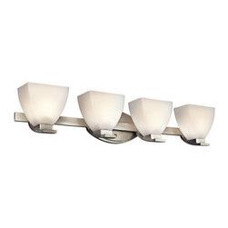 "Kichler - Kichler 45116NI Claro 33"" Wide 4-Bulb Bathroom Lighting Fixture - Product Features:"