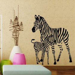 ColorfulHall Co., LTD - Zebra & Jungle Animals Wall Stickers - You will find hundreds of affordable peel - and - stick wall decal designs, suitable for all kinds of tastes and every room in your house, including a children's movie theme, characters, sports, romantic, and home decor designs from country to urban chic. Different from traditional decals, vinyl wall decals is with low adhesive that allows you to reposition as often as you like without damaging the paint. Application is easy: peel offer the pre-cut elements on the design with a transfer film, and then apply it to your wall. Brighten your walls and add flair to your room is just as easy.
