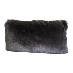 "Wilhelmina Jacobs - European Home Decor Faux Fur Pillow 12""x24"" With Insert - Fur Type: Woven Faux Fur Imported From France"