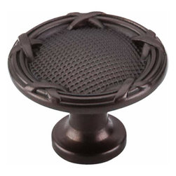 Top Knobs - Top Knobs: Ribbon & Reed Knob 1 1/4 Inch - Oil Rubbed Bronze - Top Knobs: Ribbon & Reed Knob 1 1/4 Inch - Oil Rubbed Bronze